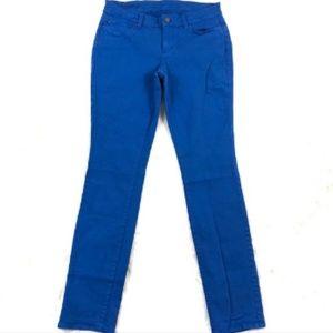 Ann Taylor Modern Fit Skinny Jeans in Cobalt Blue